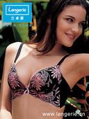 炫彩系列蝶型超级聚拢特价 插垫文胸 兰卓丽98056专柜内衣服正品