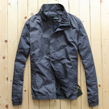 New Men's Jacket Spring and Autumn Thin Jacket Simple Comfortable Mesh Lined Men's Jacket
