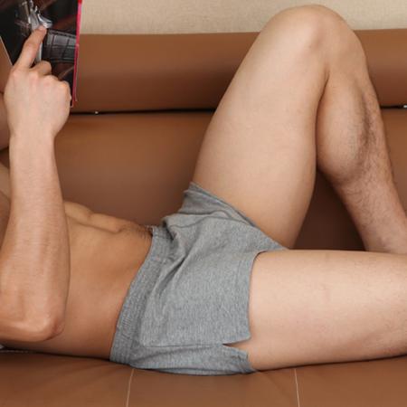 正品seobean希宾 男士纯棉家居裤内裤 宽松平角裤短裤 阿罗裤睡裤