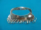 18位钥匙盘板串管理标签分类牌号码 牌可标记吊牌挂牌铁环串
