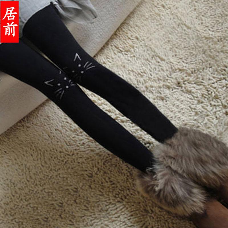 韩版酒红色连裤袜