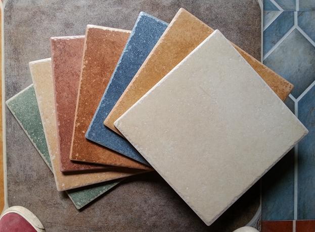 爆款欧式地中海亚光五彩岩仿古砖300 300厨房阳台地砖卫生间瓷砖