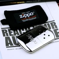 Original authentic Japanese version of Zippo hand warmer Genuine Zippo portable car warmer Hand warmer Chrome white