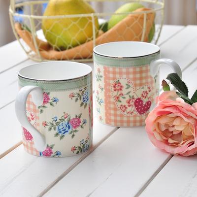 景德镇陶瓷杯水杯骨瓷马克杯早餐杯牛奶咖啡杯随手杯创意田园可爱