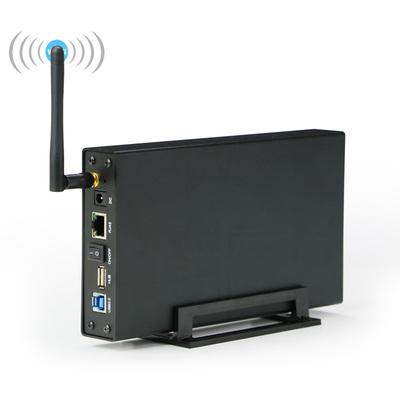 蓝硕无线网络wifi移动硬盘盒子3.5寸硬盘盒USB3.0中继路由NAS共享