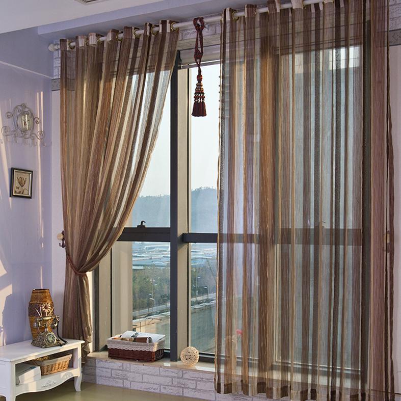 条纹窗帘成品客厅