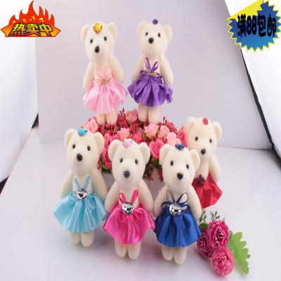 卡通花束小熊公仔冰淇淋泡沫熊  鲜花包装材料 圣诞小熊 雪人娃娃牌子口碑评测