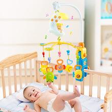 月亮宝宝音乐旋转床铃初生玩具摇铃牙胶益智婴儿玩具0-3-6-12个月