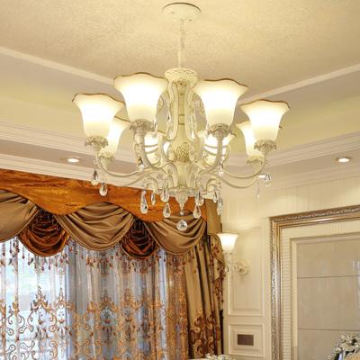 欧式吊灯简约大气田园客厅灯水晶灯餐厅灯卧室灯大厅简欧灯具灯饰排行