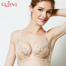 古今女文胸内衣胸罩蕾丝薄款舒适小胸聚拢性感少女棉上托0D202图片