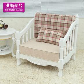 定做高密度海绵垫子实木红木沙发垫布艺卡座软包椅子定制老粗布