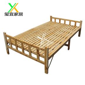 玺宜香柏木折叠床出租屋客房办公室单人午休床结实实木多宽选包邮