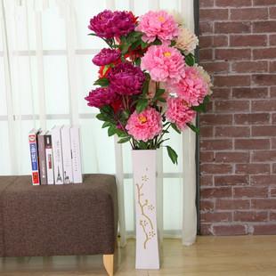 仿真花牡丹3头5头大牡丹娟花假花干花客厅摆放装饰用花艺一支包邮