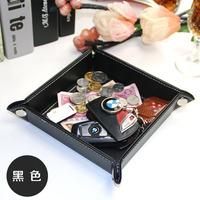 创意皮质零钱盘 桌面收纳盒钥匙储物盒 欧式时尚家用客厅玄关摆件