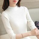 2017秋冬新款修身内搭半高领毛衣针织衫女长袖套头加厚紧身打底衫
