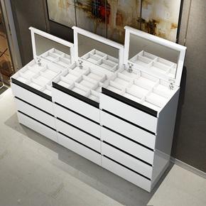 卧室五斗柜带镜妆斗梳妆台化妆镜现代简约烤漆斗橱客厅收纳储物柜