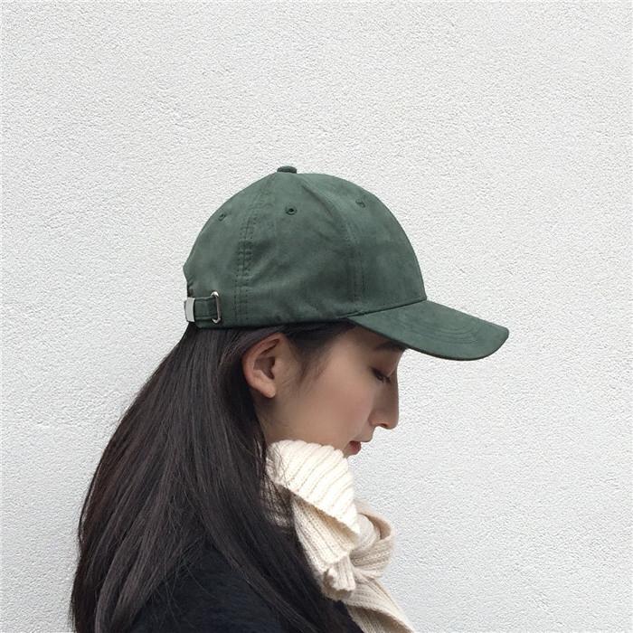 鸭舌帽纯色 皮