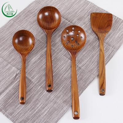 风沙渡木头勺子炒菜木铲子不粘锅专用锅铲木勺子长柄汤勺粥勺大号牌子口碑评测