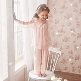 Siako Children's Princess Pyjamas Spring and Autumn Thin Girls' Pyjamas Court Wind Little Girl Baby Home Clothes