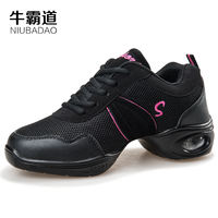 Niu Badao Square dance shoes female adult dancing shoes mesh jazz soft bottom summer dancing shoes female 999