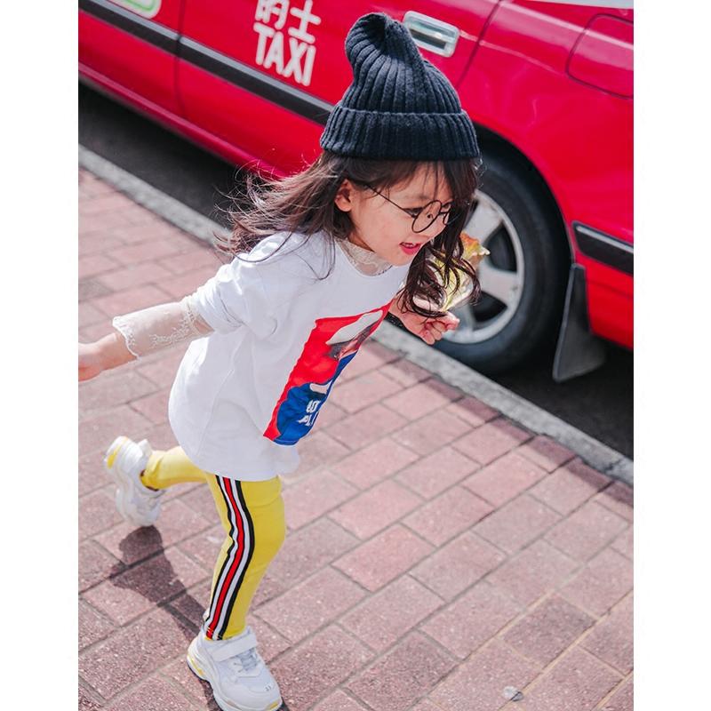 基础百搭女儿童蕾丝打底衫2018春新打底单品中大童透肤长袖蕾丝衫