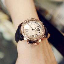 手表女方形款时尚学生韩版简约新款潮流气质复古石英表真皮情侣
