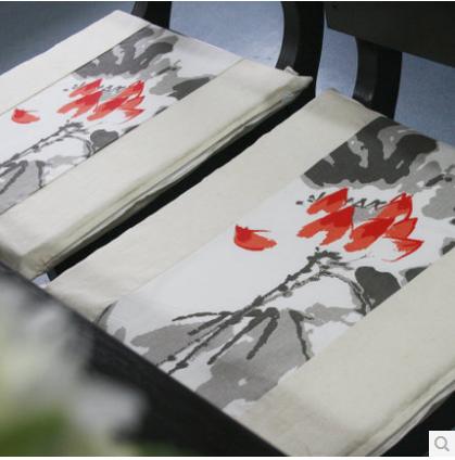 帛彩堂 亚麻拼花坐垫餐桌椅垫沙发垫蒲团垫家居软装饰 可拆洗5元优惠券