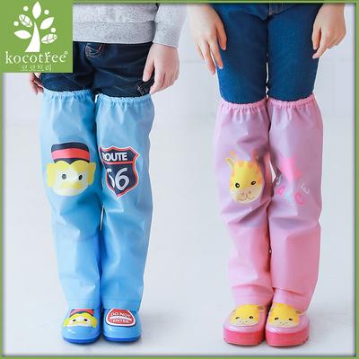 儿童鞋套小中大童脚套宝宝雨靴套男童女童雨裤长筒过膝雨鞋套