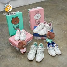 韩国代购 LineFriends & Reebok  联名限量款布朗可妮 板鞋休闲鞋
