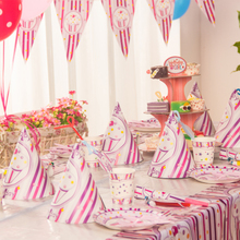 Ha ha, Party Princess ice cream, children's birthday party, party, decorate the venue, arrange products.