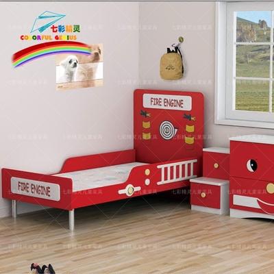七彩精灵家具儿童床汽车床消防床单层床儿童家具配套创意定制实木哪里购买
