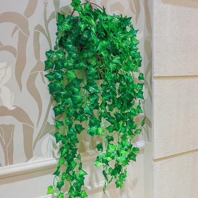 仿真花挂壁花藤套装篮铁艺花篮欧式田园墙壁吊兰花绢花客厅装饰花