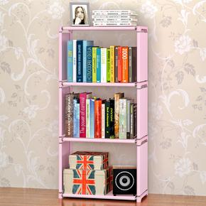 索尔诺新品四层收纳层架书架简易储物架单个书柜置物架