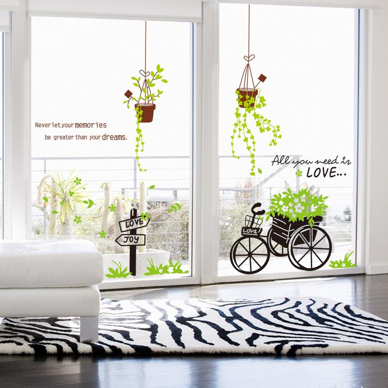 玻璃贴纸客厅创意