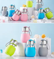 Cute glass cup water bottle coffee cups