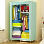 简易衣柜布艺布衣柜组装单人钢管加粗加固组装衣橱收纳简约经济型