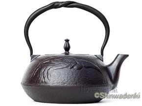 日本铁壶代购 南部壱铸堂平型凤凰铁茶壶1.5L MT-212H 可用电磁炉