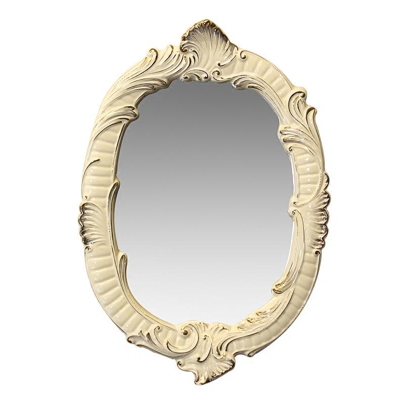 居家浴室镜简易镜椭圆形镜卫生间镜壁挂镜化妆台镜试衣镜简约镜子