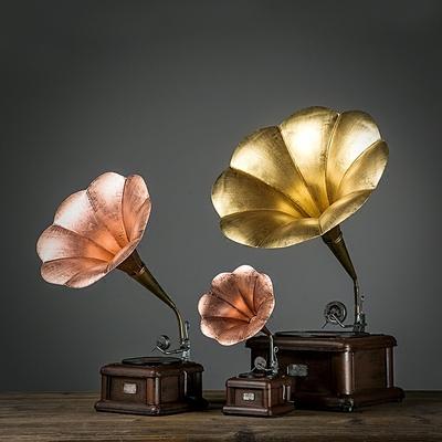 创意欧式美式留声机模型复古摆件家居客厅电视柜摆设样板房装饰品