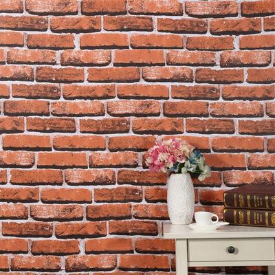 3d砖纹pvc自粘壁纸仿古砖头砖块墙纸中式怀旧加厚防水自贴翻新贴排行榜