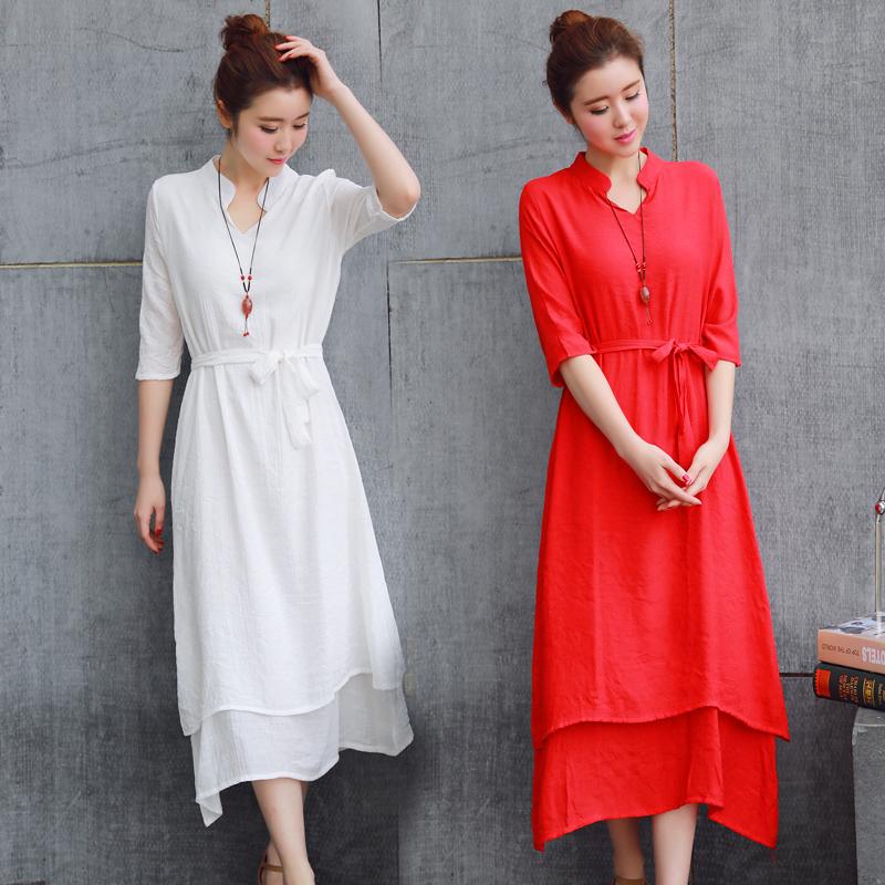 夏季古典连衣裙