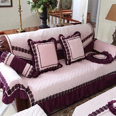 世纪家纺米兰风情沙发坐垫飘窗垫雪尼尔沙发垫现代简约绗缝沙发套哪里便宜
