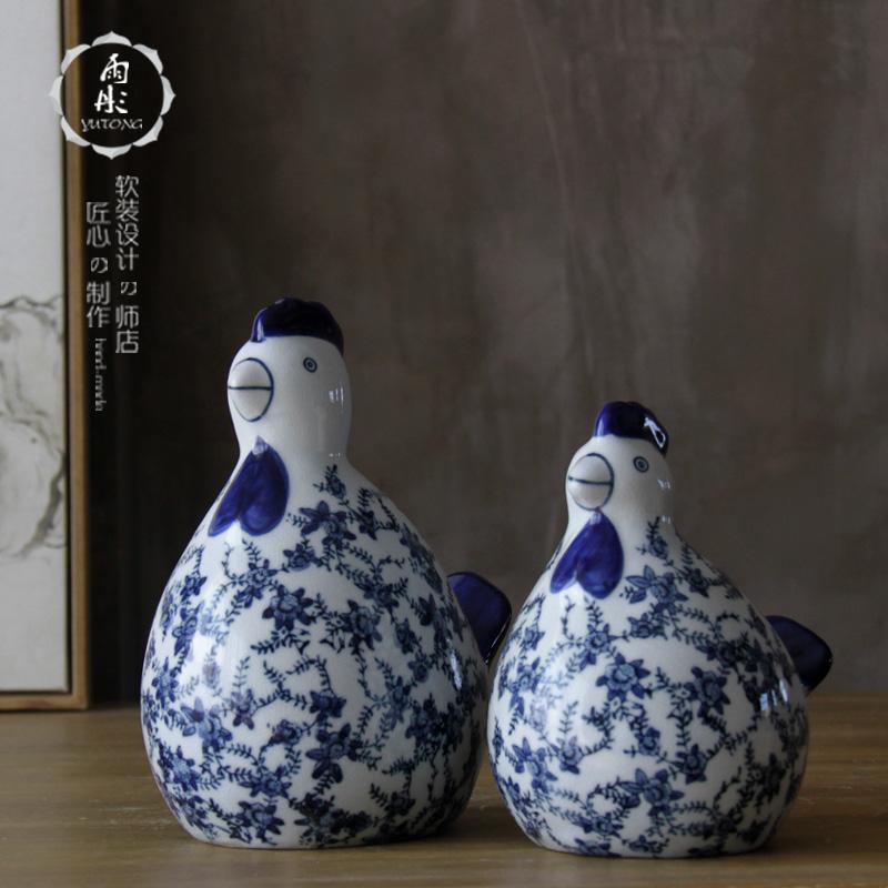 仿古陶瓷鸡