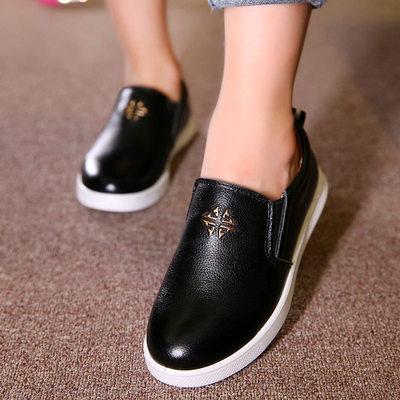 小童豆豆鞋男童皮鞋儿童单鞋男孩学生黑色表演皮鞋韩版牛皮男童鞋