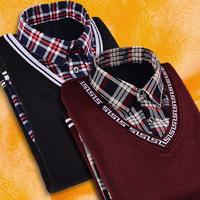 秋冬季毛针织衬衫
