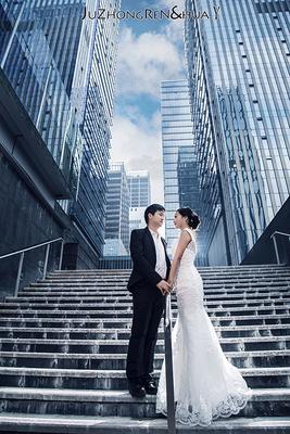 重庆夜景婚纱照摄影写真纯外景剧中人自由摄影师唯美中式婚纱个性