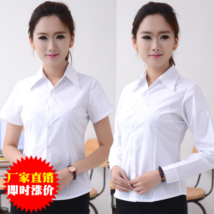 Tooling professional short-sleeved shirt overalls cotton tooling ladies shirt long-sleeved business self-cultivation