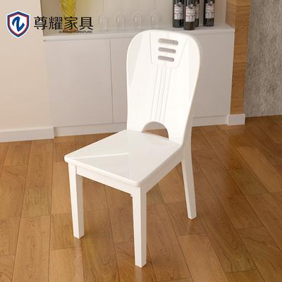 白色烤漆木餐椅