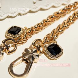 8MM粗DIY高端链条配件镶黑钻链子金属包带装饰链金属包带五金配件图片