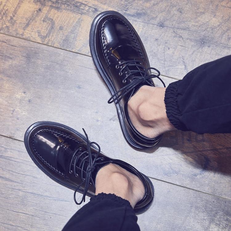 亮皮正装鞋子